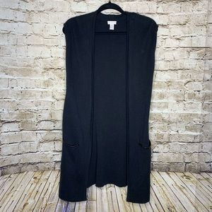 Chico's black long sweater vest